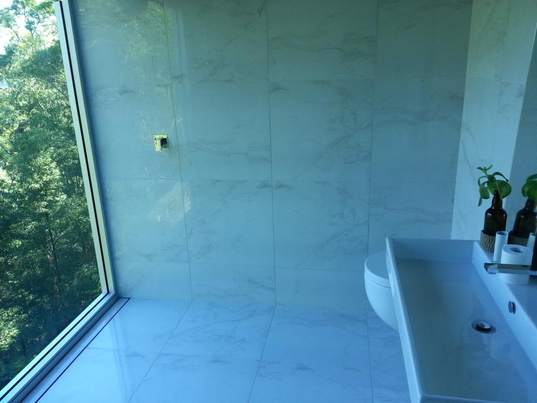 Finished Designer Bathroom Reno